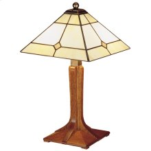 Mica Shade, Cherry Small Corbel Base Lamp