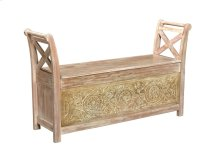 Bengal Manor Brushed Wood Storage Bench