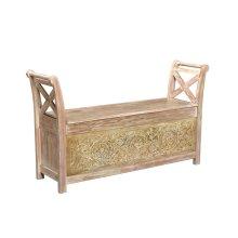 Bengal Manor Brushed Wood Storage Bench