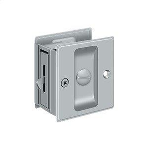 "Pocket Lock, 2 1/2""x 2 3/4"" Privacy - Brushed Chrome"