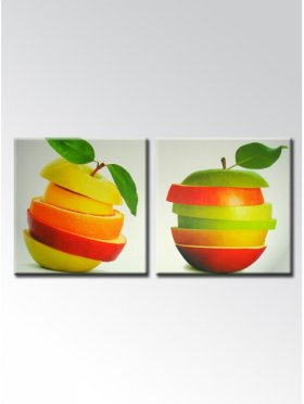 Colorfull Apples 2 Pcs Non-frame Painting - Materials From Germany