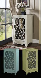 Glass and Chippendale Side Table - White Product Image