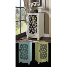 Glass and Chippendale Side Table - White