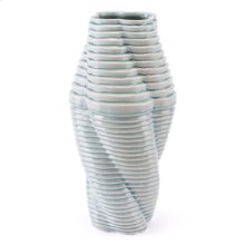 Twisted Lg Vase Blue