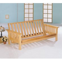 Casual Weathered Oak Futon Frame