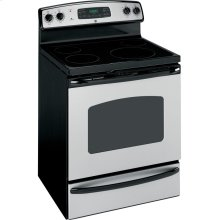 """GE® 30"""" Free-Standing Electric Range (This is a Stock Photo, actual unit (s) appearance may contain cosmetic blemishes. Please call store if you would like actual pictures). This unit carries our 6 month warranty, MANUFACTURER WARRANTY and REBATE NOT VALID with this item. ISI 33268"""