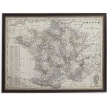 Antique Map of France Wall Art