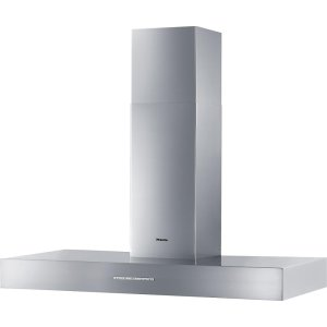 MieleDA 5428 W Puristic Arca Wall ventilation hood with energy-efficient LED lighting and backlit controls for easy use.