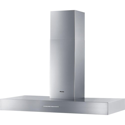 DA 5321 W Puristic Arca AM Wall ventilation hood with dimmable halogen lighting and light-touch switches for easy operation.