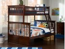 Columbia Bunk Bed Twin over Full in Walnut Product Image