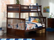 Columbia Bunk Bed Twin over Full in Walnut