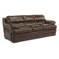 Dylan Leather Three-Cushion Sofa without Nailhead Trim Product Image