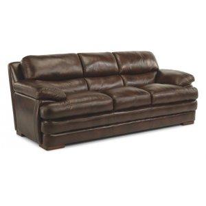 FLEXSTEELHOMEDylan Leather Three-Cushion Sofa without Nailhead Trim