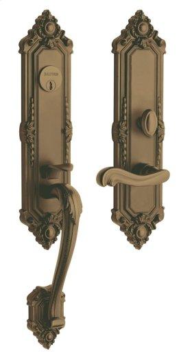 Satin Brass and Brown Kensington Entrance Trim