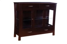 3 Door Dining Chest with Plain Glass