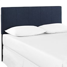 Oliver Queen Upholstered Fabric Headboard in Navy