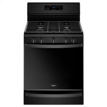 Whirlpool® 5.8 Cu. Ft. Freestanding Gas Range with Frozen Bake Technology - Black