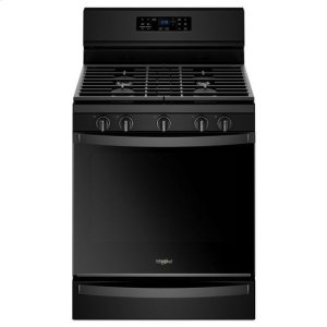 WHIRLPOOLWhirlpool(R) 5.8 Cu. Ft. Freestanding Gas Range with Frozen Bake(TM) Technology - Black