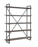 "Emerald Home Atari Bookshelf 60"" W/5 Shelves Metal Frame, Antique Grey Shelves Ac330-60 Product Image"