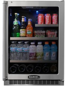 "24"" Marvel Professional Glass Door Refrigerator/Beverage Center"
