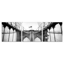 Modrest Bridge Tower 3-Panel Photo On Canvas