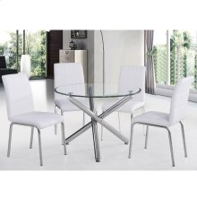 "Solara II 5pc 40"" Dining Set in White"