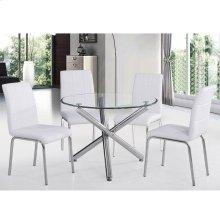 "Solara II 5pc 40"" Dining Set in White"
