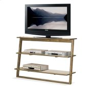 Lean Living Leaning TV Stand Smoky Driftwood finish Product Image
