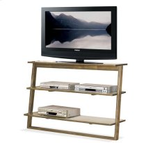 Lean Living Leaning TV Stand Smoky Driftwood finish