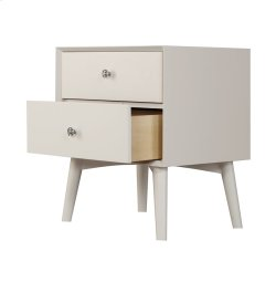 2 Drawer Nightstand-white Product Image