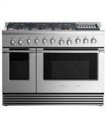 "Dual Fuel Range 48"", 6 Burners with Griddle"