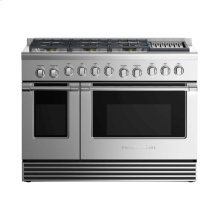 "Dual Fuel Range 48"", 6 Burners with Grill"