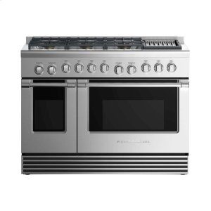 "Fisher & PaykelDual Fuel Range 48"", 6 Burners With Grill"