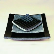 Stone Plateware Ridged Dish 4.5X5.5 / Black Granite