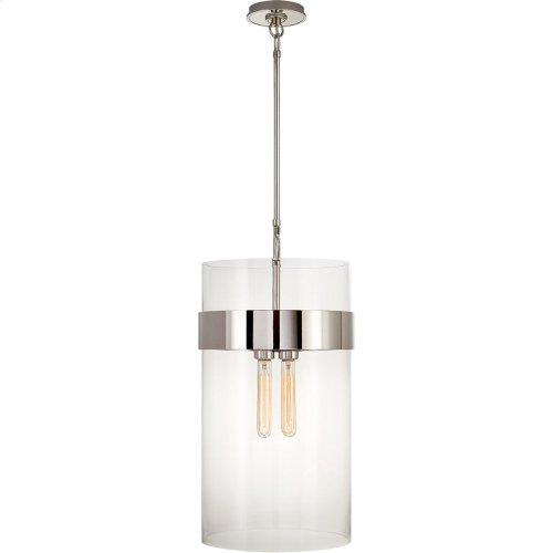 Visual Comfort S5674PN-CG Ian K. Fowler Presidio 4 Light 13 inch Polished Nickel Pendant Ceiling Light, Medium