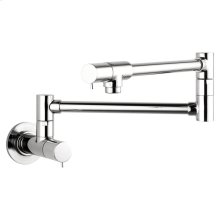 Chrome Pot Filler, Wall-Mounted