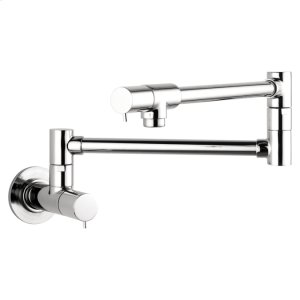 Chrome Pot Filler, Wall-Mounted Product Image