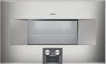Combi-steam oven 400 series BS 464 610 Stainless steel-backed full glass door Right-hinged Controls at the bottom