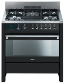 "Free-Standing Dual Fuel ""Opera"" Range, 36"", Anthracite"