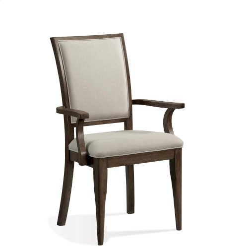 Joelle - Upholstered Arm Chair - Carbon Gray Finish