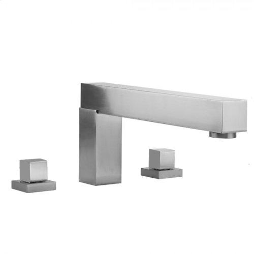 Satin Chrome - CUBIX® Roman Tub Set with Cube Handles