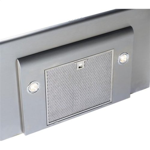 "36"" Stainless Steel Range Hood with CFM External Blower Options"