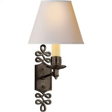 Visual Comfort AH2010GM-NP Alexa Hampton Ginger 1 Light 8 inch Gun Metal with Wax Decorative Wall Light