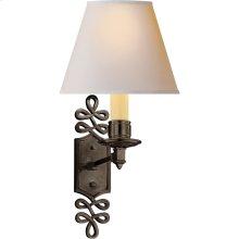 Visual Comfort AH2010GM-NP Alexa Hampton Ginger 1 Light 8 inch Gun Metal Decorative Wall Light