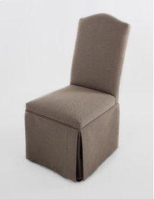Camel back skirted chair