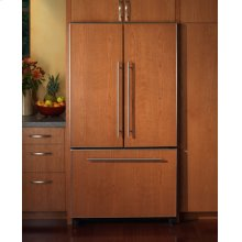 "36"" Integrated French Door Freestanding Cabinet-Depth Bottom Freezer Refrigerator with Overlay"