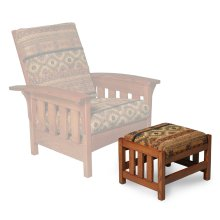 Morris Ottoman, Fabric Cushion Seat