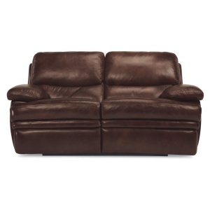 FLEXSTEELHOMEDylan Leather Reclining Loveseat without Chaise Footrests