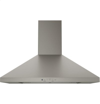 "GE® 30"" Wall-Mount Pyramid Chimney Hood Product Image"