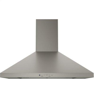 "GE® 30"" Wall-Mount Pyramid Chimney Hood Product Image"